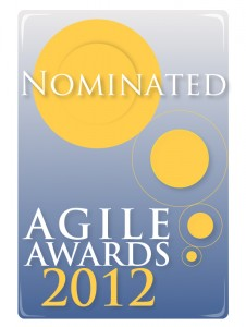 Nomination logo for 2012 UK Agile Awards.