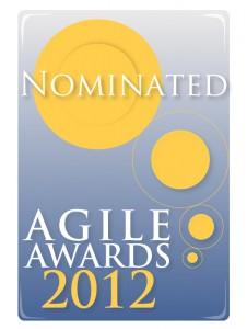 Nomination logo for 2012 UK Agile Awards.